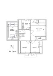 Schéma 1er étage - 737 - Vendenheim