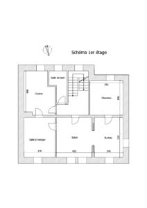Schéma 1er étage - 738 - Ingwiller